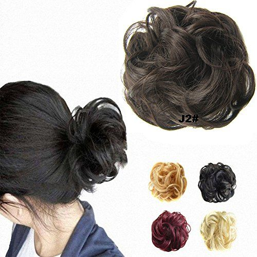 FESHFEN Scrunchy Scrunchie Hair Bun Updo Hair Ribbon Ponytail Extensions Hair Extensions Wavy Curly Messy Extensions Donut Hair Chignons Hair Piece Wig-J2# Darkest Brown:   FESHFEN Scrunchy Scrunchie Bun Hair Bun Updo Up Do Hairpiece Hair Ribbon Ponytail Extensions Hair Extensions Wavy Curly Messy Hair Bun Extensions Donut Hair Chignons Hair Piece Wig Dark Brown Scrunchie Hairpiece/bbrbrScrunchie bun up do hairpiece with elastic hair tie, secure and comfortable to wear, perfect bride h...