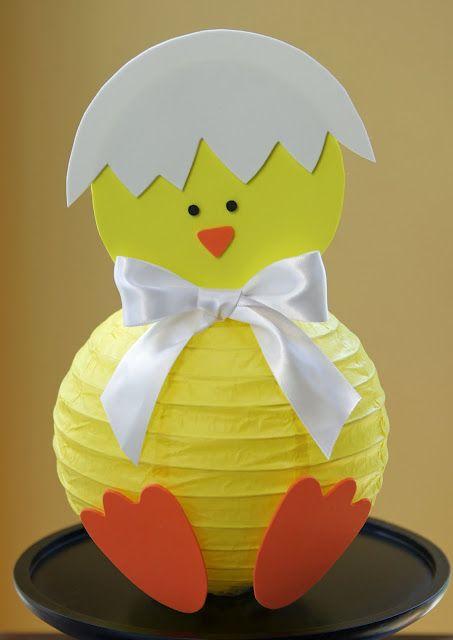 Easter DIY Lanterns: Decor Ideas, Paper Lanterns, Diy Easter, Easter Chick, Easter Crafts, Easter Bunnies, Easter Decor, Chick Lanterns, Baby Shower