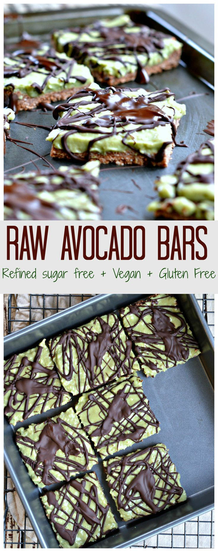 Raw Avocado Bars- sub rice syrup for paleo