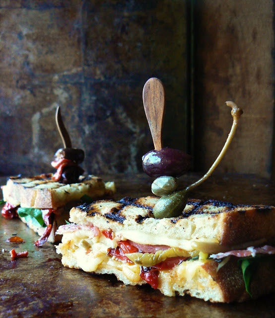 Rosemary peasant bread Prosciutto Genoa Salami Pepperoncini Roasted ...