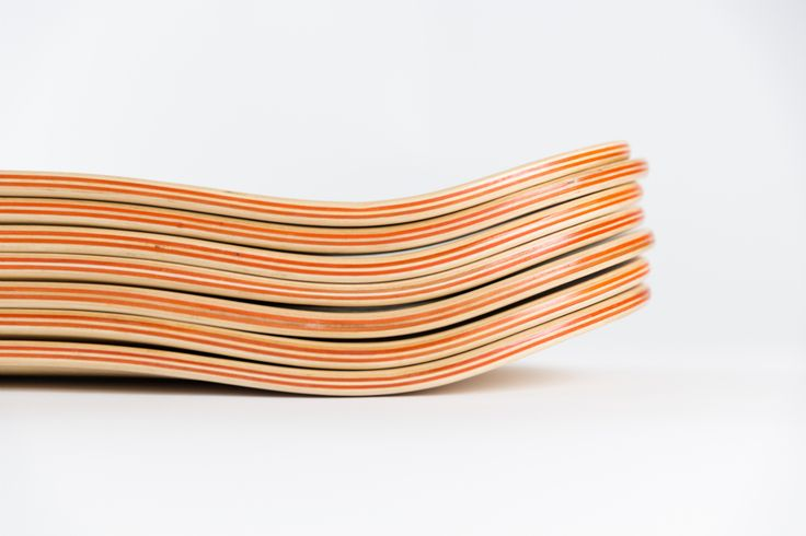 7ply Canadian maple skateboards with two orange layers. A perfect match.