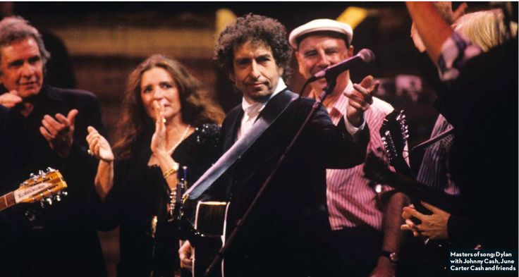 Masters of songs: Dylan with Johnny Cash, June Carter Cash and friends
