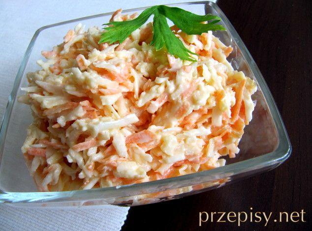 Surówka z selera i marchewki - przepisy kulinarne