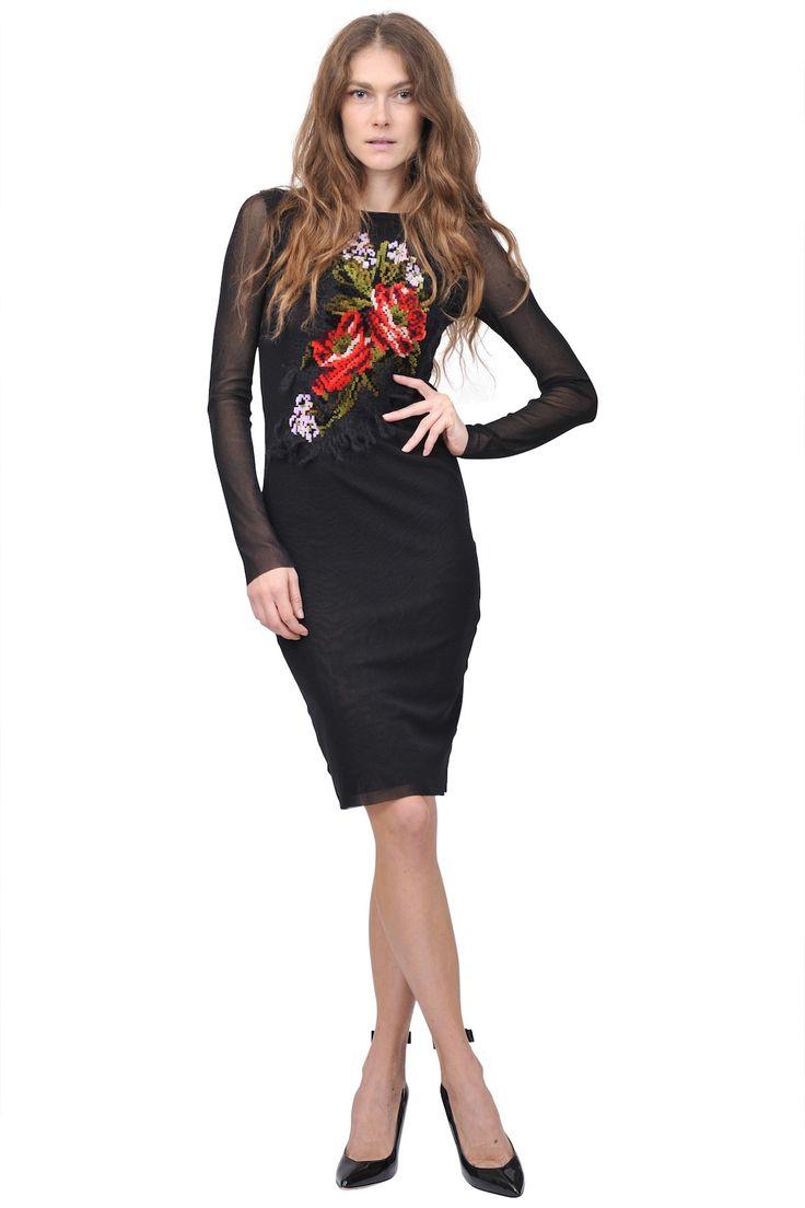 Jean Paul Gaultier soleil-Floral embroidery dress www.suite123.it