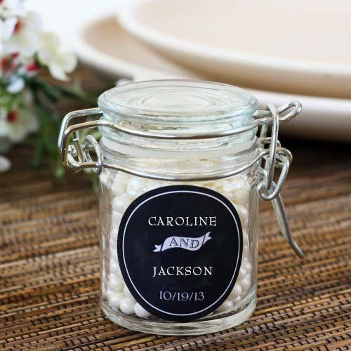 Personalized Glass Favor Jars by Beau-coup, about 113$