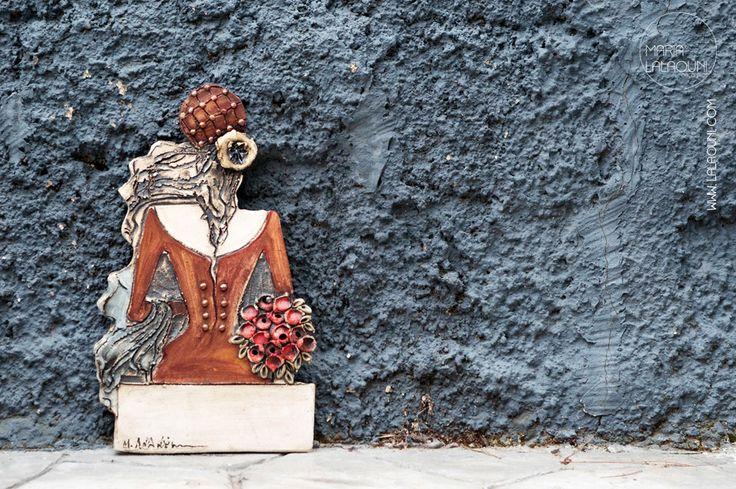 Handmade ceramic figures made by Maria Lalaouni * www.lalaouni.com