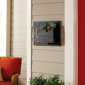 DIY Custom Address Plaque with Hanging Wall Planter - How to Create a House Number Wall Planter  | Garden Club