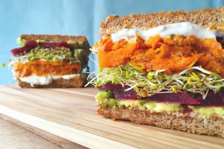 Veggie Sandwich with Butternut Squash   Pickled Beets