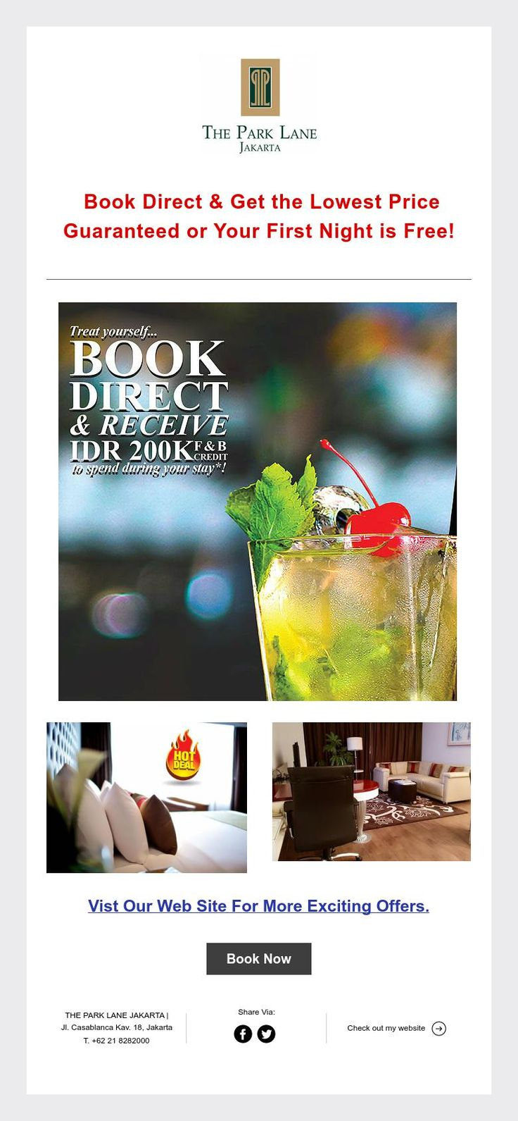 Book Direct & Get The Lowest Price Guaranteed or Your First Night is Free!