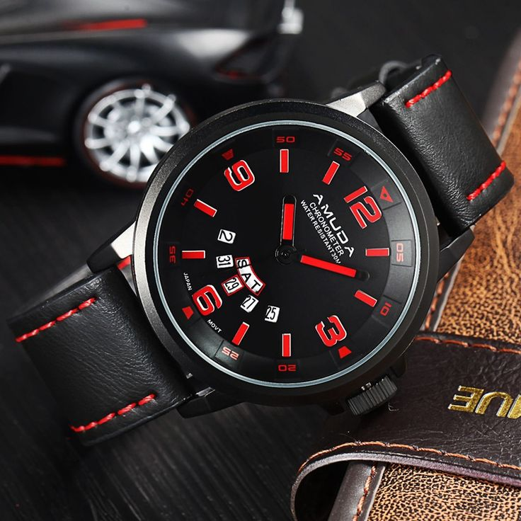 2016 Brand Amuda Watches Men Casual Quartz Leather Wristwatch Army Military Reloj Hombre Men's Clock Relogio Masculino-in Quartz Watches from Watches on Aliexpress.com | Alibaba Group