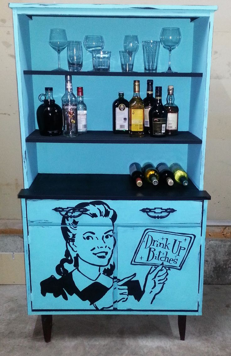 BEST cabinet makeover ever!!! hahaha!    Ava Blake Creations