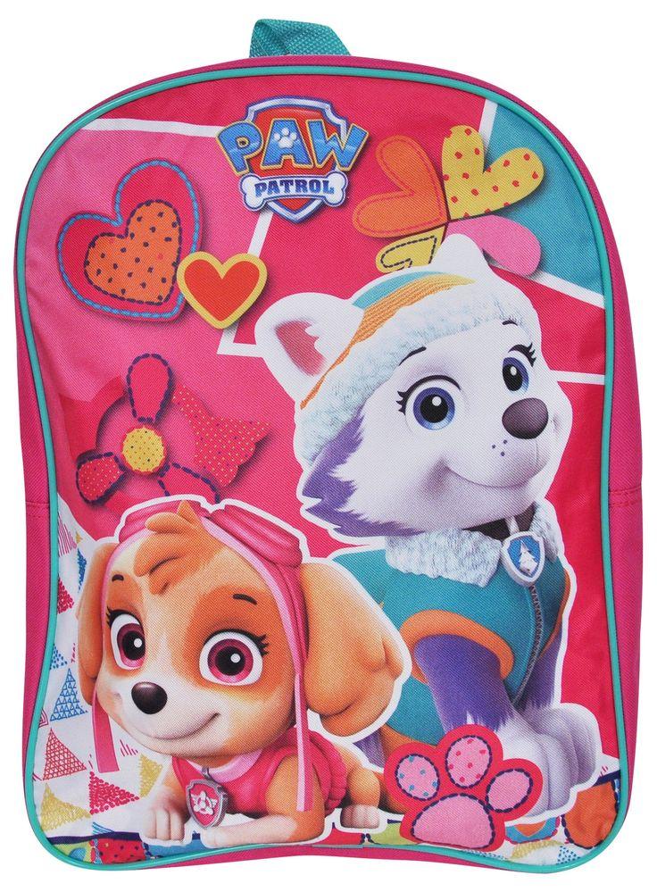 "Paw Patrol Girls Backpack Skye Everest Pink 15"""