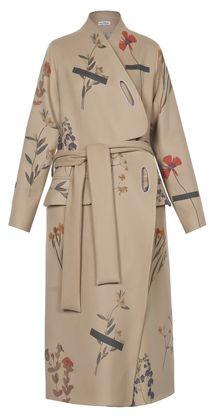 Materiel by Lado Bokuchava - Beige Printed Coat - Coats | MORE is LOVE