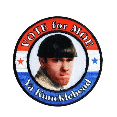 Three Stooges Iron On Patch Vote For Moe