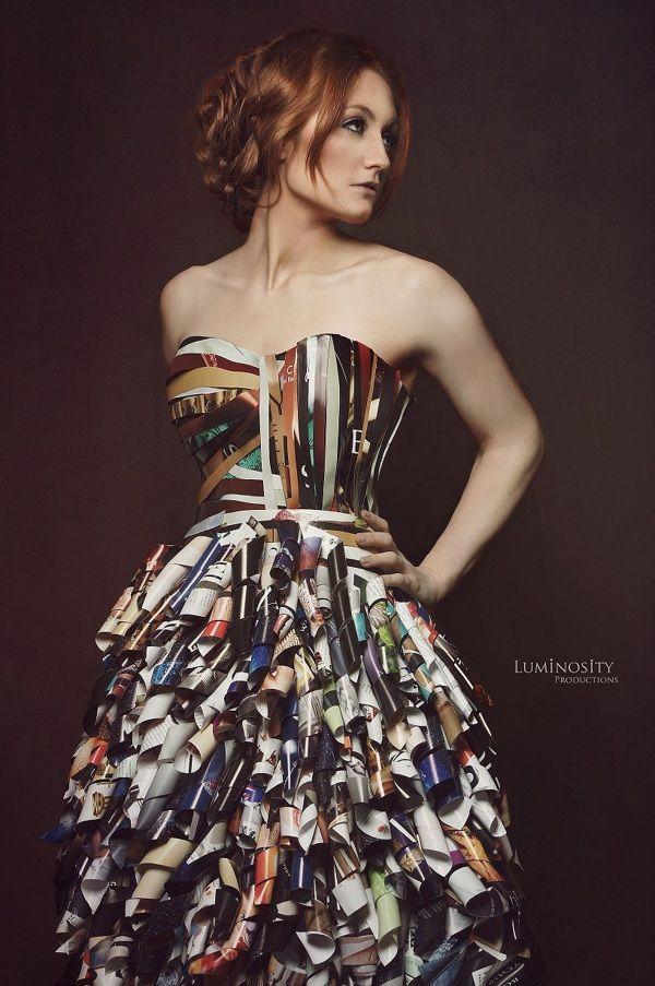 Magazine Dress Series. by Luminosity Productions , via Behance