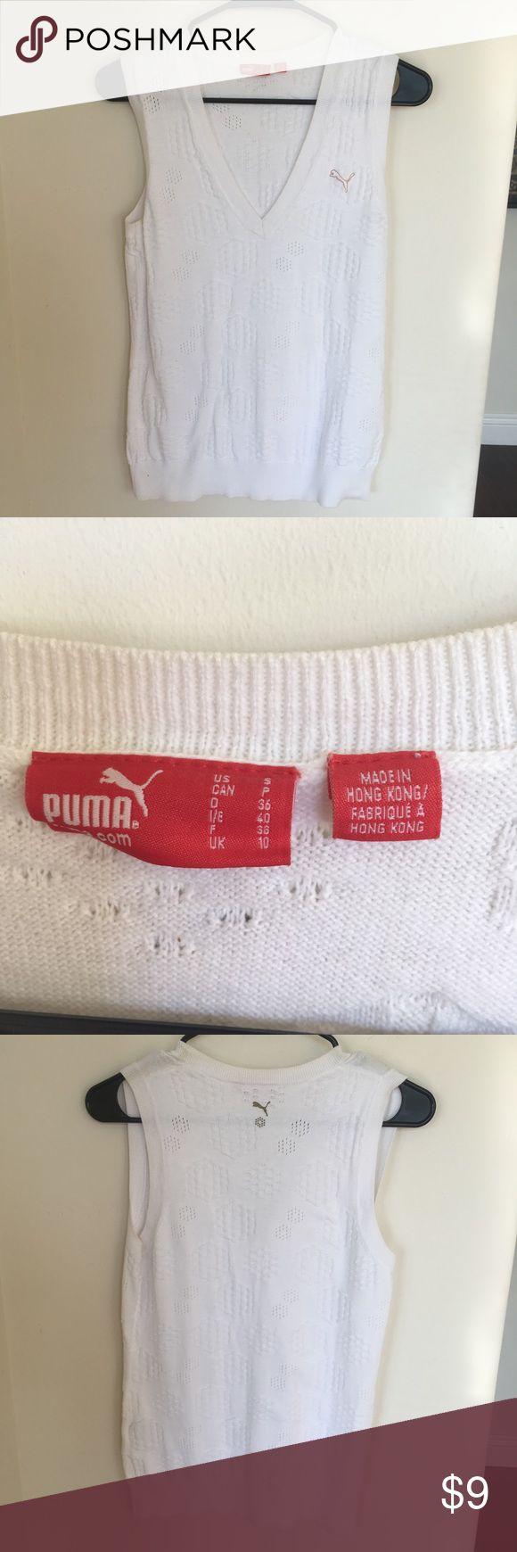 Puma Golf sweater vest (s). Puma Golf sweater vest (s). Great condition.  Super cute Puma Sweaters V-Necks