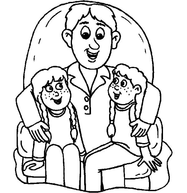 We Sit On Daddys Lap I Love Dad Coloring Pages Coloring Pages I