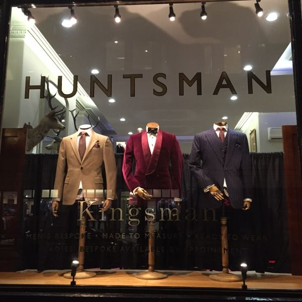 The shop appeared in Kingsman. Kingsman at Huntsman, such a fitting tribute.