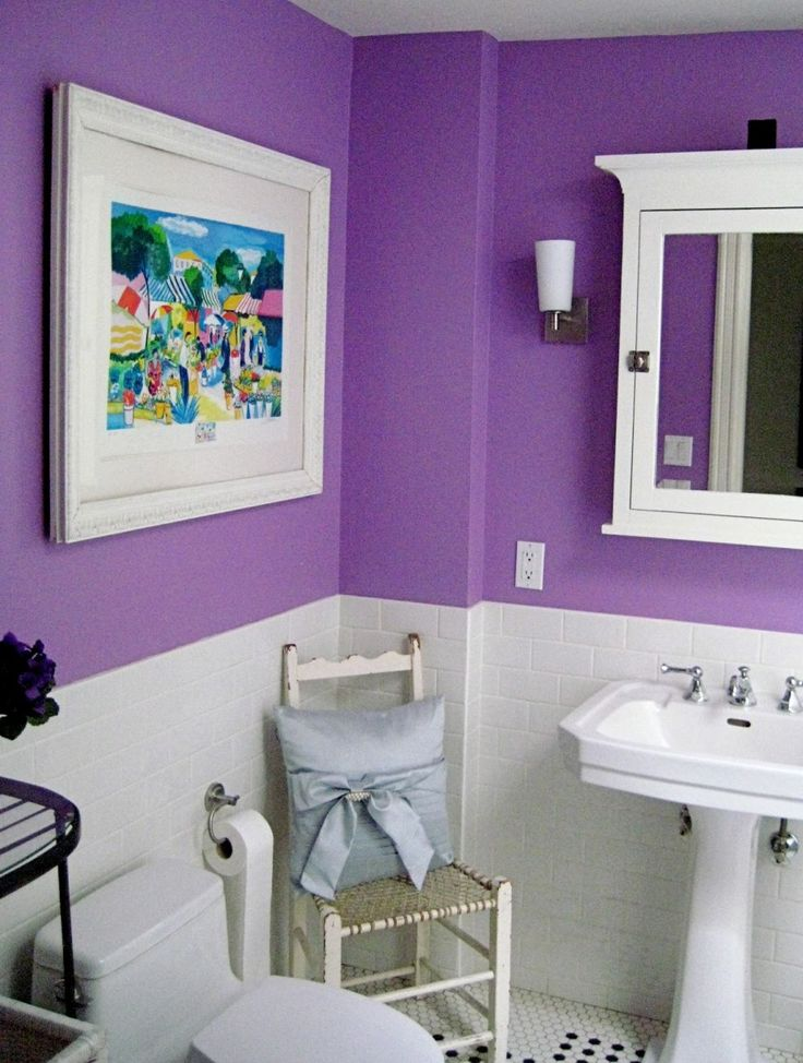 Amazing Decorating With Lavender Color Walls : Interesting Decorating With Lavender  Color Walls With White Closet