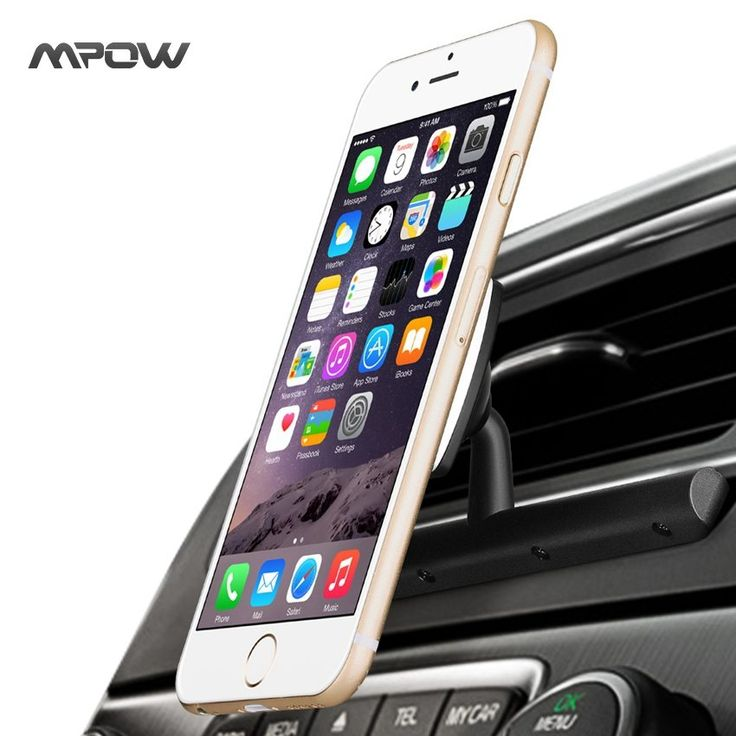 Mpow MCM9B Universal CD Slot Car Phone Holder Magnetic Cradle-less Smartphone Car Mount Holder w/ 360 Degree Swivel For iPhone //Price: $15.98//     #Gadget