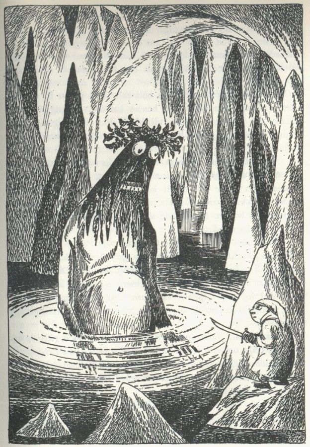 Tove Jansson's illustration for the Swedish edition of the Hobbit