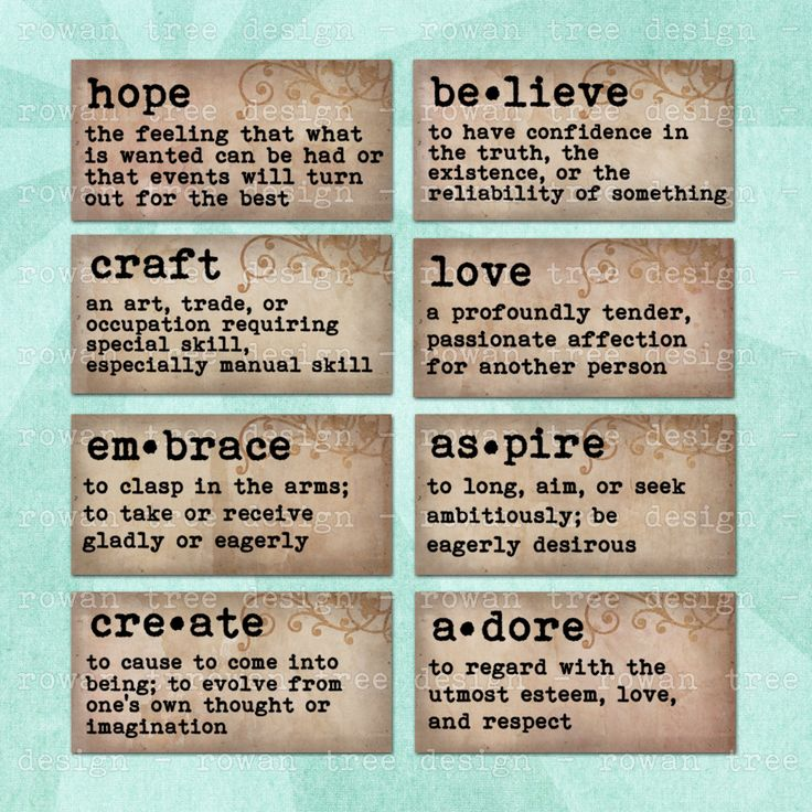 T T  WORDS DICTIONARY DEFINITIONS Digital Collage Sheet 2x1in Domino Tile – no. 0164