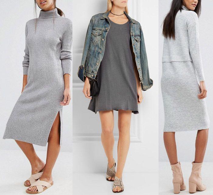 Grey dress outfit, Gray dress, Dress