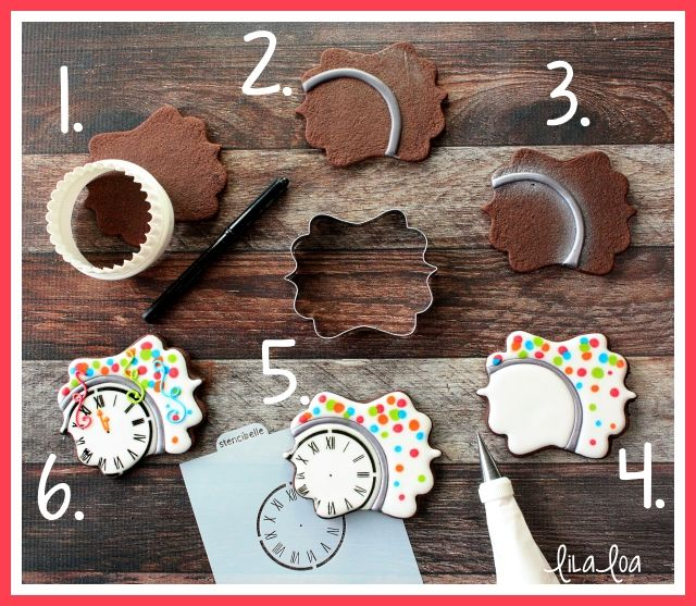 Learn how to make decorated sugar cookies that look like a New Year's Eve party!! --Tutorial