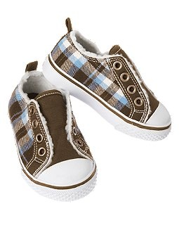 Sherpa Lined Plaid Flannel Sneaker