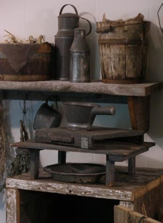 Sweet Liberty Homestead primitive wall shelf and cooling racks!