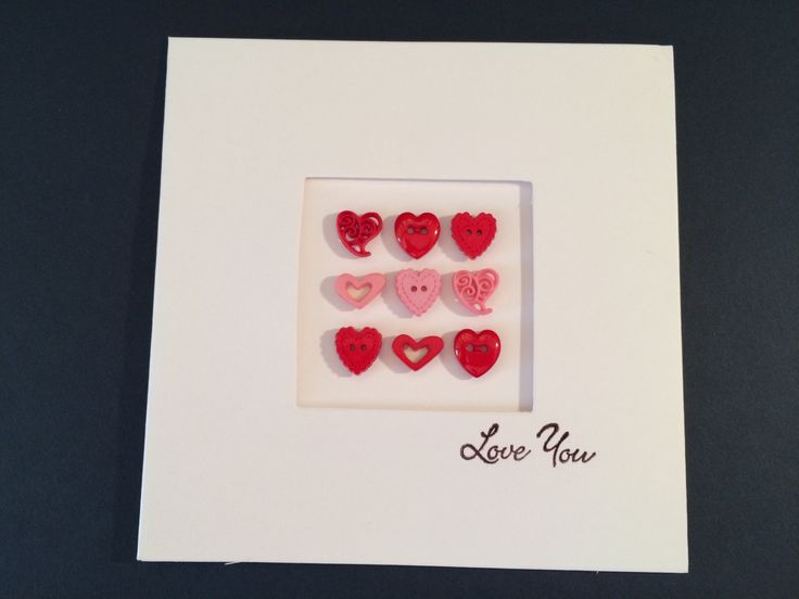A 'Love You' heart button Card by CatkinsCrafts on Etsy