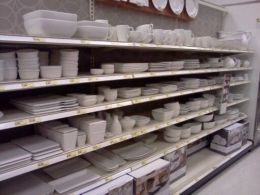 white dishes at target