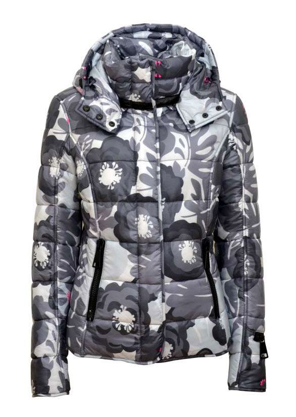 Authier Grey Flower Fit Jacket #snowfox