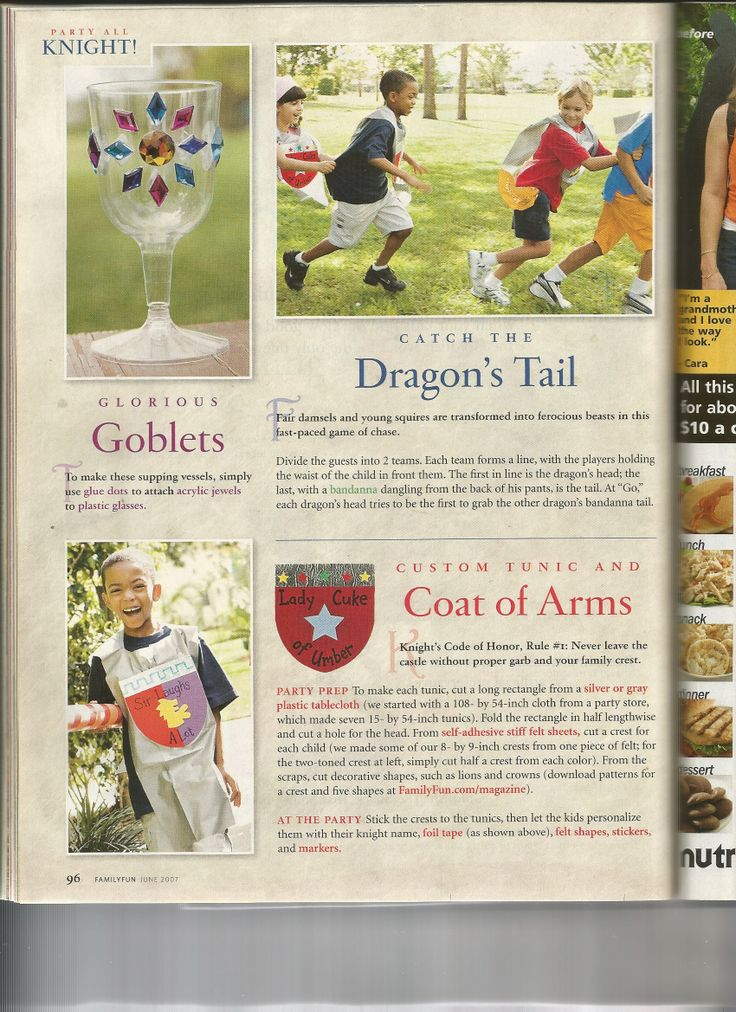 Knight Party 2  from Family Fun Magazine  June 2007 issue