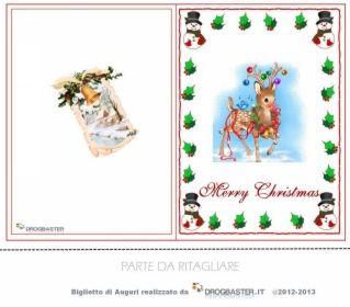 Biglietto per Natale da stampare