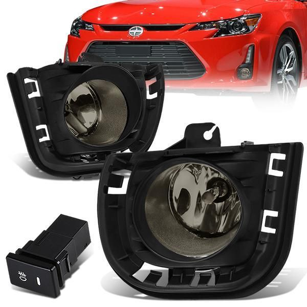 14 16 Scion Tc Smoked Lens Fog Lights W Bezel Switch Bulbs Fog Scion Tc Scion