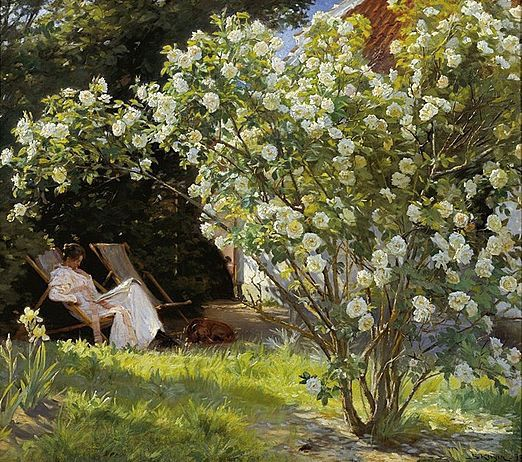 P.S Krøyer: Roses.1893   Skagens Kunstmuseer    Art Museums of Skagen