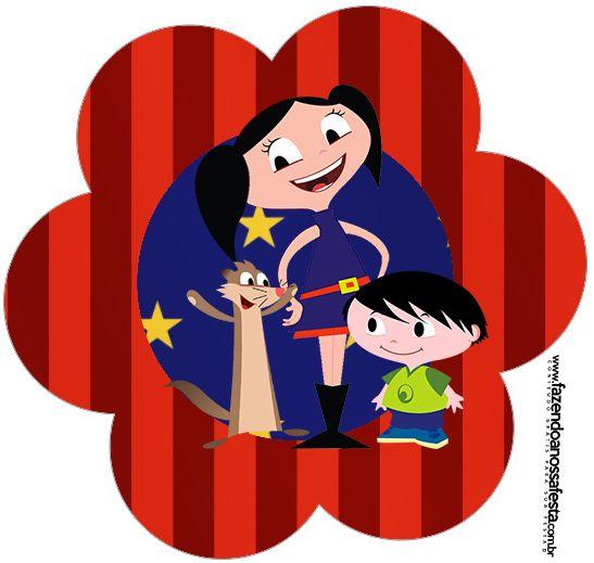 Flor Show da Luna Azul e Vermelho