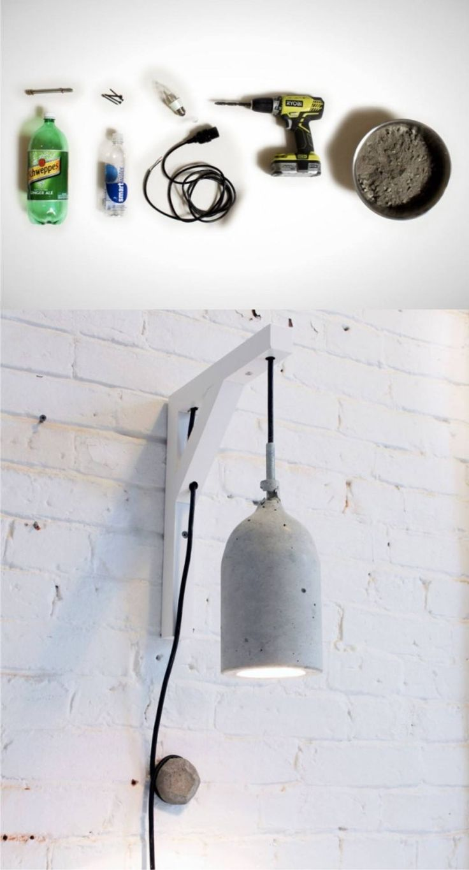 Lámpara DIY de hormigón - Muy Ingenioso