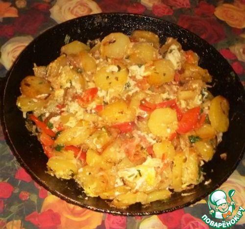 Жареный картофель по-азербайджански - кулинарный рецепт