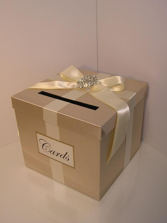 Wedding Quinceanera Sweet 16 Card Box Champagne And Blush Pink