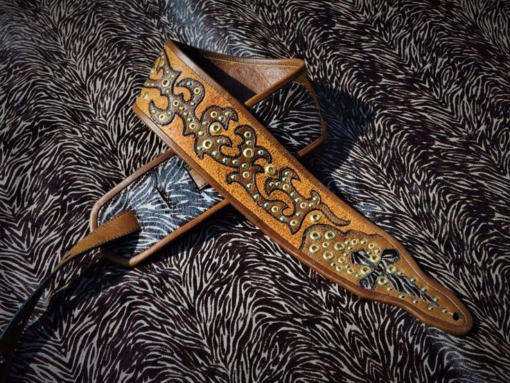 One of a Kind High end Guitar Strap by Eddie Brat Leather | eBay