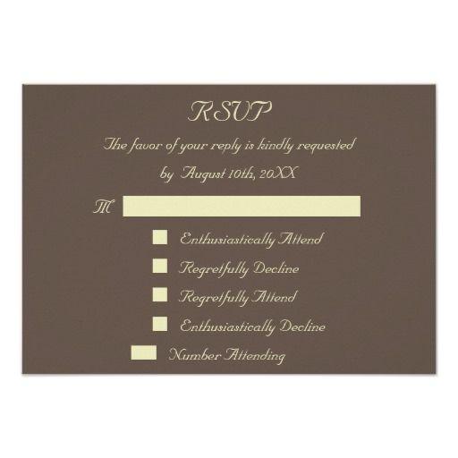 fun reply response custom wedding rsvp invitation - How To Decline A Wedding Invitation