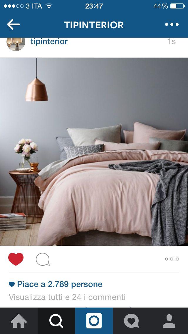 Dettagli rame con rosa e grigio