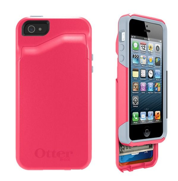 OtterBox was already fantastic, but now they've added a sliding wallet compartment in the back.: Iphone Cases, Phone Case Wallet, Gadget Y Things, Cell Phone, Neat Gadgets, Gift Ideal, Random Products, Chic Gadgets