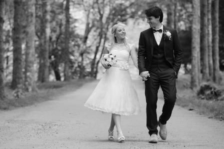 Yvonne and Gerry in the perfect place for wedding photots - Gougane Barra Forest Park, Gougane Barra, Co. Cork, Ireland #ireland #weddingphotos #weddingidea