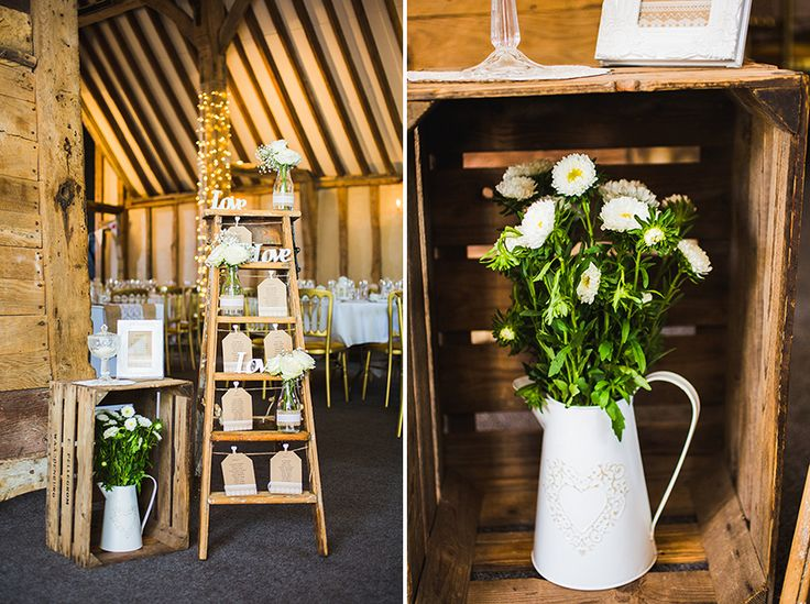 Rustic step ladder table plan at Blake Hall wedding venue Essex with Sam & Louise photography www.samandlouise.co.uk