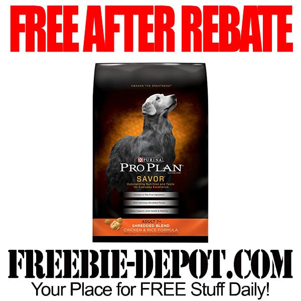 FREE AFTER REBATE - Full-Size Purina Pro Plan Dog Food - FREE 6 lb Bag of Dog Food - $18.99 Value Exp 4/30/15 #freebate  #freeafterrebatee