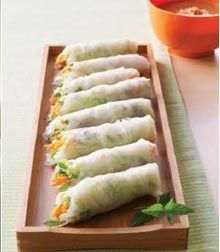 Thai Salad Rolls | ChefCali. Also a recipe for pad Thai in this link.