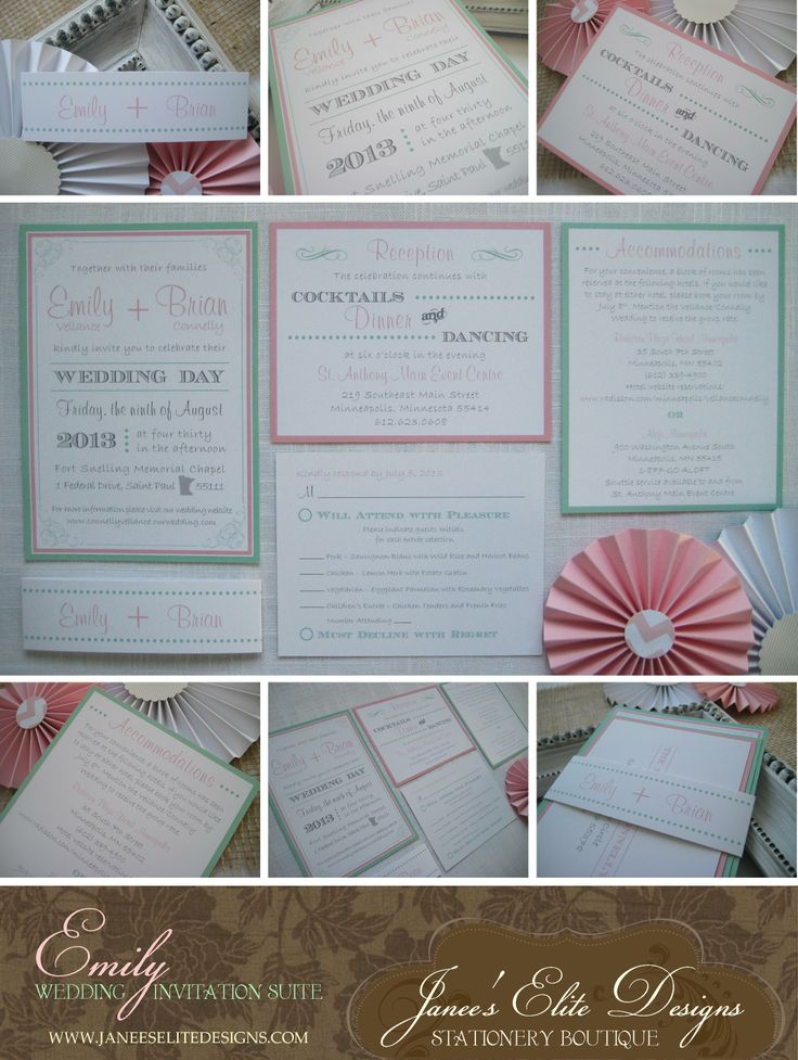 21 best Mint Green and Pink Wedding images on Pinterest Wedding